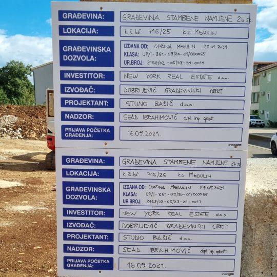 Projekt Medulin Ulica Munida – Zgrade 1 i 2
